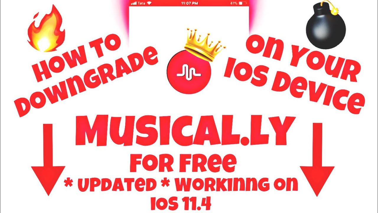 DOWNGRADE Musical ly From The Updated VERSION!!! | Working on iOS 11 4 |  Tech And Toys