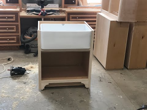 how to Install and fit a porcelain  farm sink