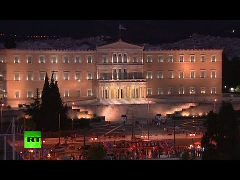 Syntagma Square NOW - Thousands celebrate likely NO vote victory in Athens
