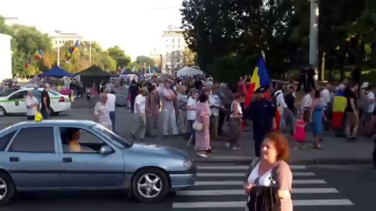 Pavlicenco și Caraman au mers cu unioniștii în marș