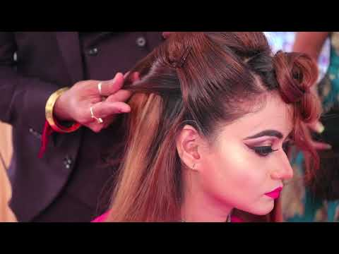 anurag makeup mantra,,,  Shedding reception hair style & makeup  10 days hair style diploma full co