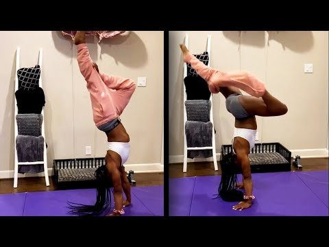 Simone Biles Shows Her Unique Olympic Prep Workout Routine