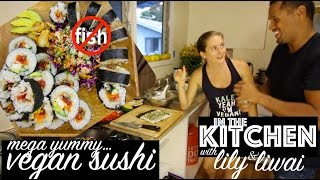 What I Eat in a Day [vegan] + Easy Sushi Recipe [Cook with Us!]