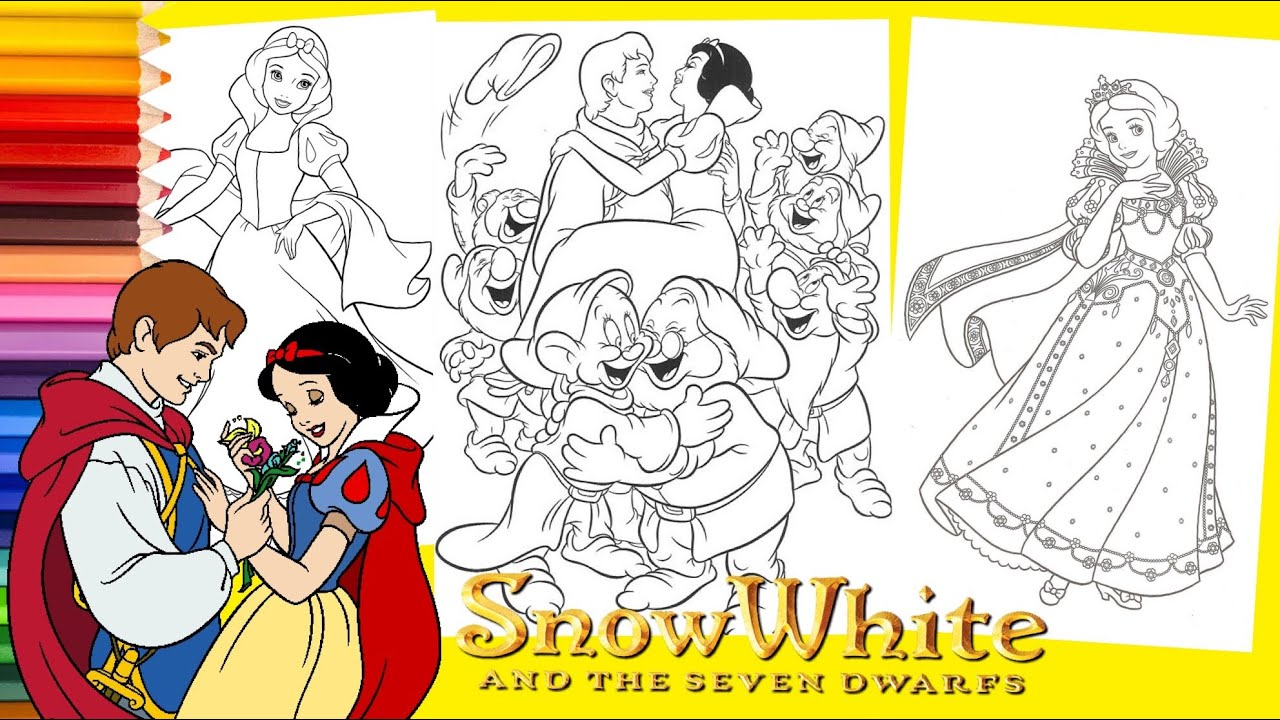 Snow White And The Seven Dwarfs Coloring Pages Hd Pictures 4 HD ... | 720x1280