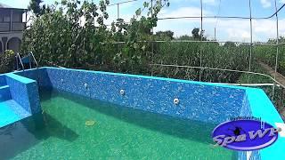Строительство бассейна своими руками на даче Плёнка ПВХ