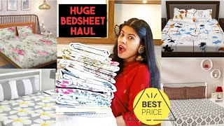 AMAZON Huge BEDSHEET Haul | Affordable and best quality bedsheet | Indian Vlogger