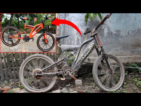 RESTORATION BIKE FROM WRECKAGE BICYCLE FOUR 4 thumbnail