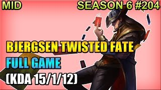 tsm bjergsen twisted fate vs annie mid full game apr 13 2016