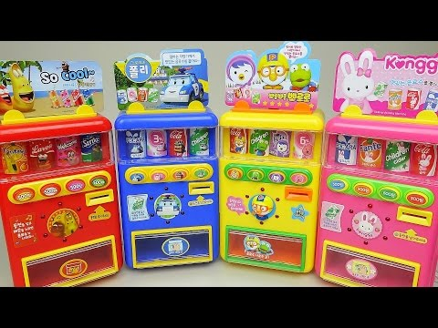 Thumbnail: Robocar Poli Pororo vending machine and Tayo TOBOT car toys