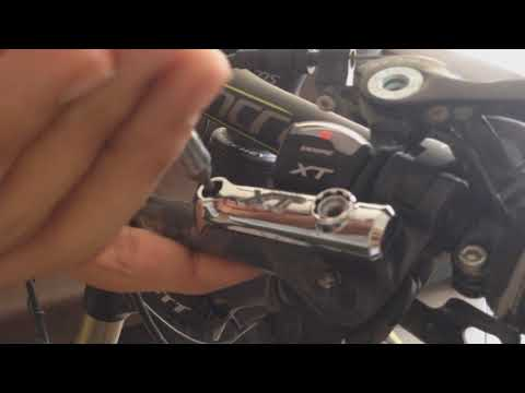 15f5c28add9 How to easily convert your bicycle brakes; SLX M675 to XT M785 - YouTube
