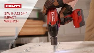 """INTRODUCING the Hilti SIW 9-A22 3/4"""" impact wrench"""