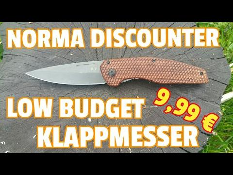 ✔NORMA DISCOUNT KLAPPMESSER f. 9,99 €  |  LOW BUDGET FOLDER! | 1st Impressions | 42a konform?
