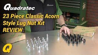 Quadratec 23 Piece Classic Acorn Style Wheel Lug Nut Kit for Jeep CJ & Wrangler