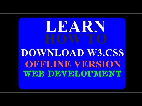 How To Download W3css From W3schools Offline Version For Free