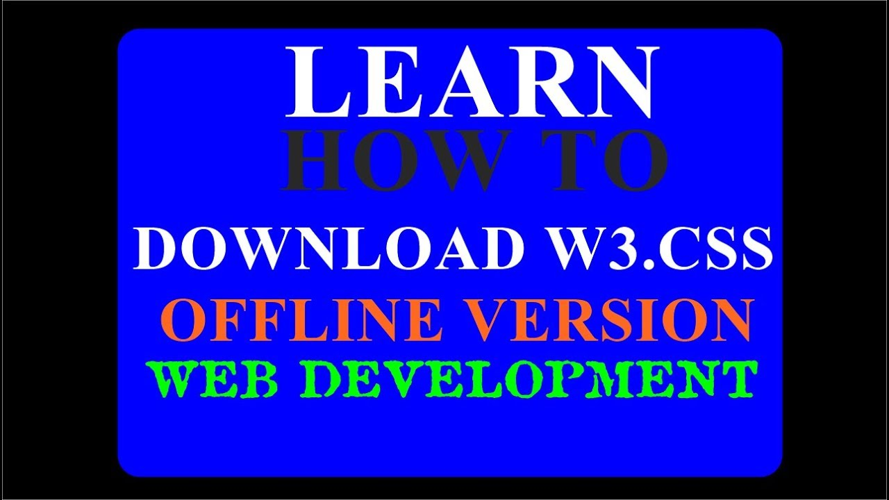 w3css download