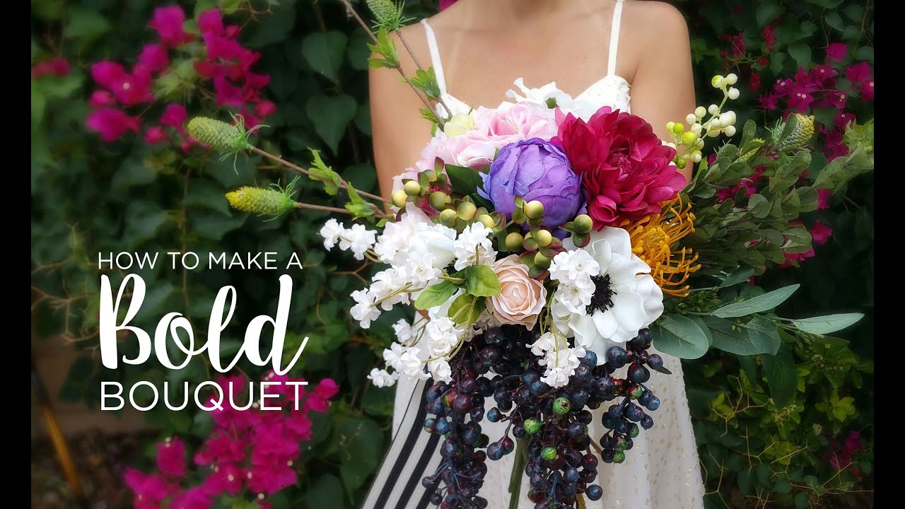 How to diy wedding bouquet youtube for Bouquet internet
