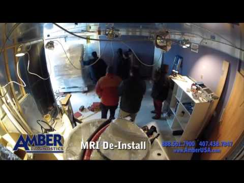de installation of a mri scanner in 2 minutes