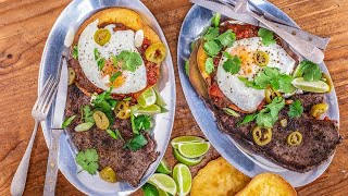 How To Make Steak and Eggs Rancheros By Rachael