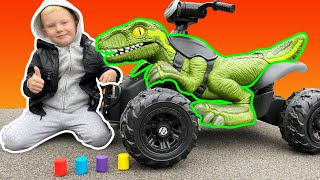 Kids made a crash experiment with slime and anti-stress toys | Martin and Monica