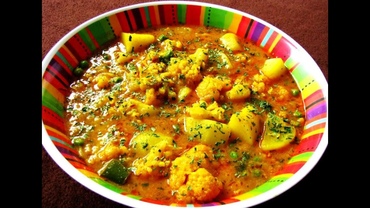 Aloo ghobi ki rasili sabji -INDIAN RECEIPE - YouTube