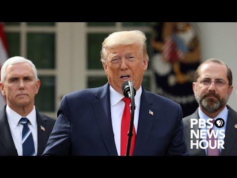 WATCH LIVE: President Trump holds news conference on coronavirus response