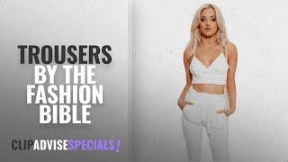 Top 10 The Fashion Bible Trousers [2018]: Prini White Tie Waist Trousers