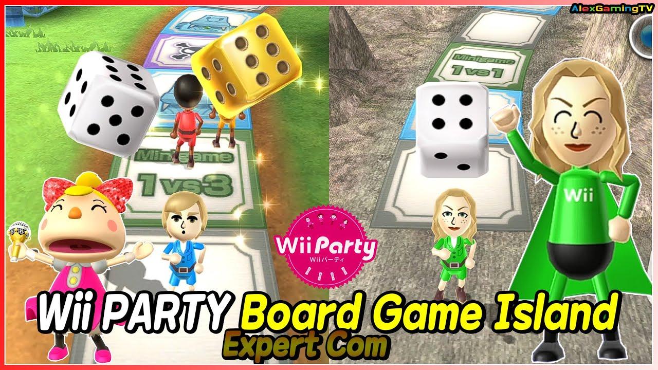 Wii Party - Board Game Island (Expert com) Oliver vs Eduardo vs Rachel vs Hayley   AlexGamingTV