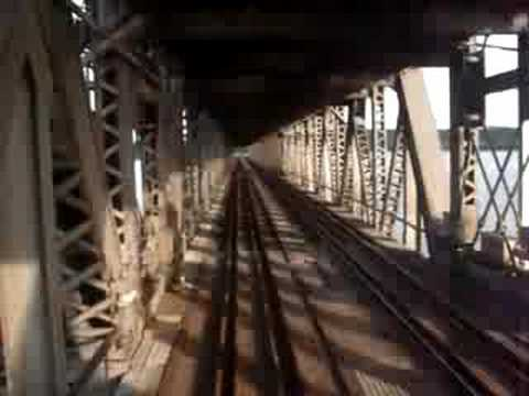 Amtrak Southwest Chief crosses Ft Madison Bridge