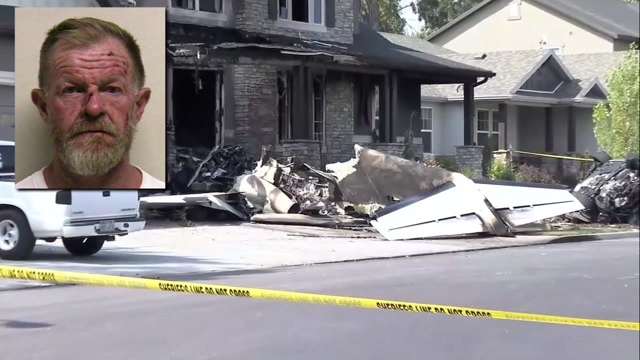 White man intentionally flies plane into home after assaulting wife