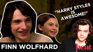 Finn Wolfhard FREAKS OUT over his co-star not knowing 1D & gushes over Harry Styles