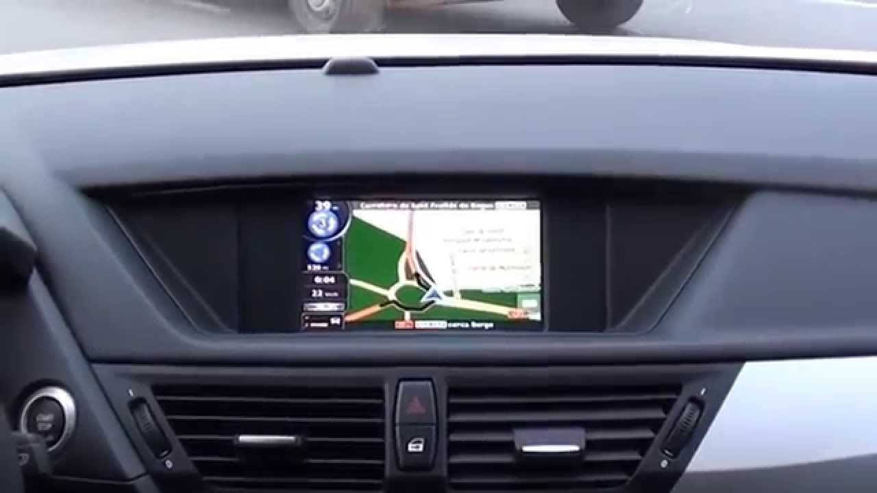 bmw x1 navigation touchscreen monitor gps multimedia navitouch youtube. Black Bedroom Furniture Sets. Home Design Ideas