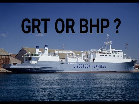 Marchant navy -ll what is GRT AND BHP ?