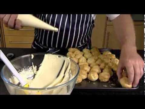 Profiteroles Baileys Cream and Chocolate Sauce