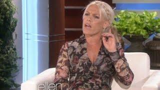 "P!nk on Mariah Carey ""Mariah taught us all that""! (Ellen 2014) Video"