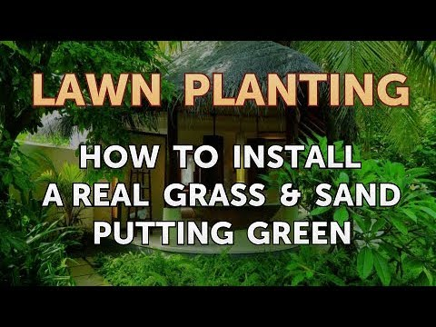 How To Install A Real Grass & Sand Putting Green