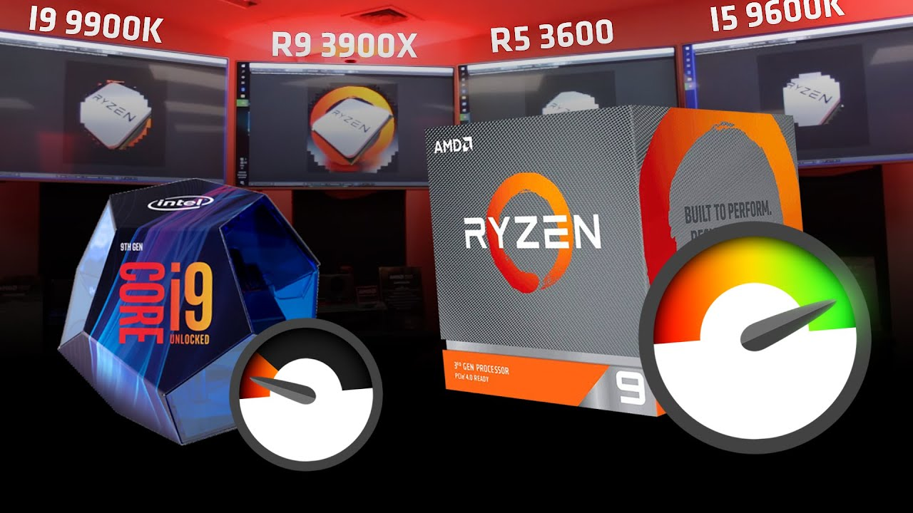 Ryzen 9 3900x vs i9 9900k - Test en evento de 50 años de AMD!!!