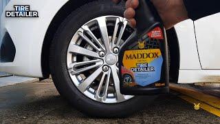 Vídeo: Abrillantador de Neumáticos , Plásticos y Parachoques - Maddox Tire Detailer