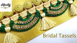 Bridal Saree Kuchu Design | Crochet Saree Tassels | Kannada Tutorial | Knotty Threadz