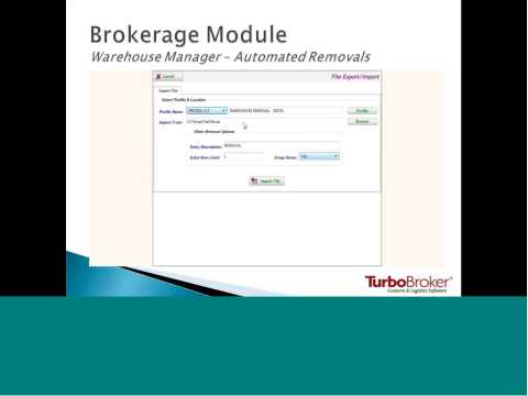 TurboBroker Customs 5 Product Launch - Brokerage Module