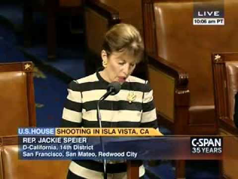 Congresswoman Speier on Isla Vista Resolution