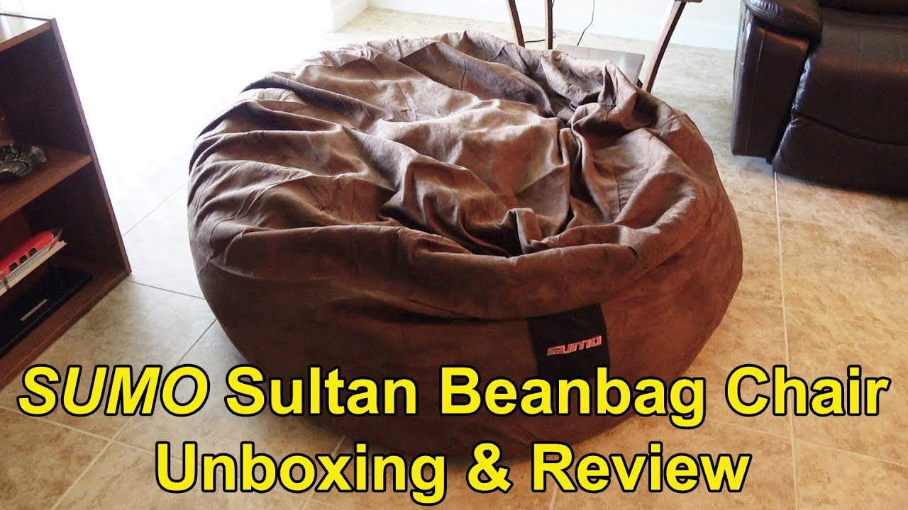 Sumo Lounge Sultan Beanbag Chair Unboxing, Setup And Review   Itu0027s Huge!