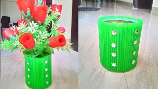 Waste material flower pot