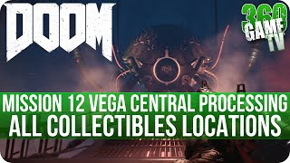 Doom Mission 12 All Collectibles (Secrets, Collectibles, Data Logs, Runes, Elite Guards, Drones)