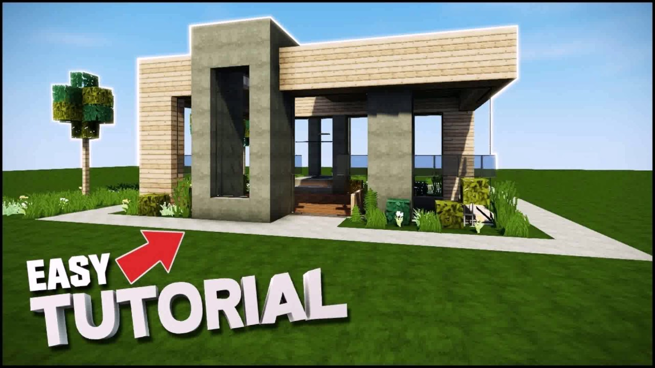 Modern house minecraft 20x20 youtube for 20x20 house