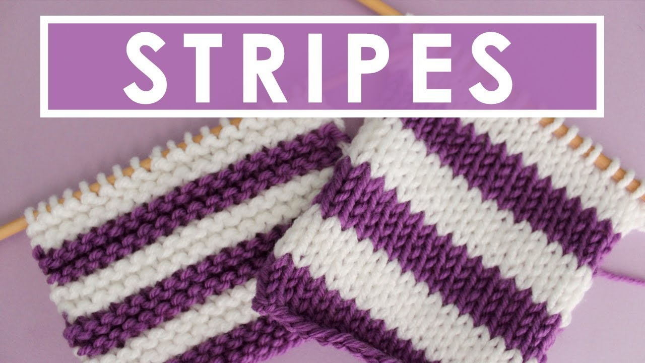 5 Top Tips To Help You Knit Stripes Knitting Stripes Series Youtube