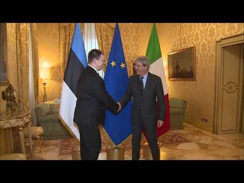 Il Presidente Gentiloni incontra il Primo Ministro estone Jüri Ratas