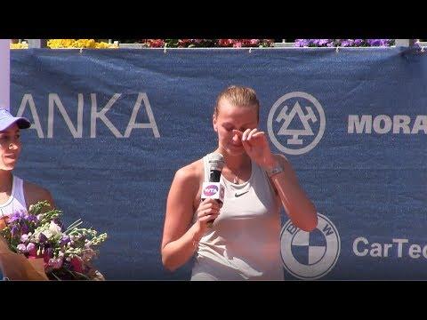 Emotivní proslov Petry Kvitové po vítězství na J&T Banka Prague Open