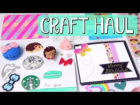 CRAFTY MAIL HAUL #13 - Opening Gifts from Viewers // Handmade Inspiration - SoCraftastic