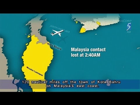 Malaysia Airlines hunts for missing plane carrying 239 - 08Mar2014