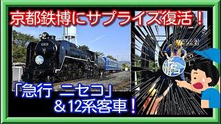 【京都鉄博サプライズ!】復活!C62-2急行ニセコと12系乗車